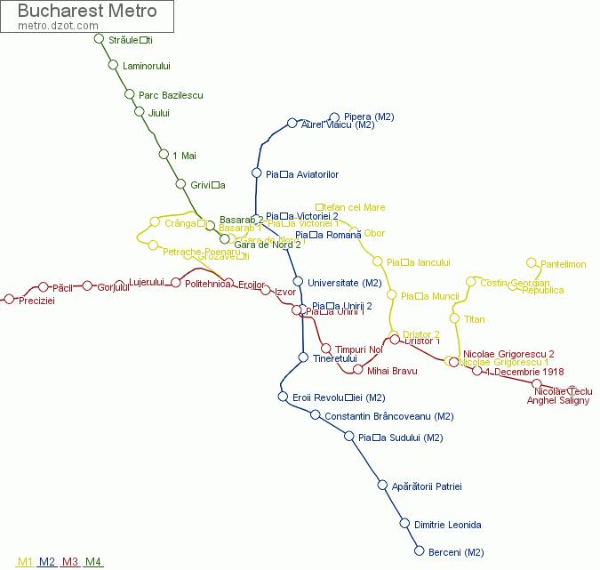 Map of Bucharest Metro