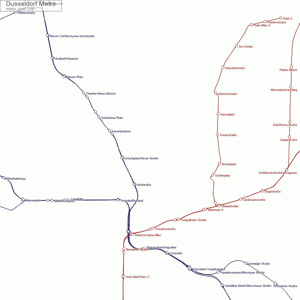 Dusseldorf Subway Map.Map Of Dusseldorf Metro
