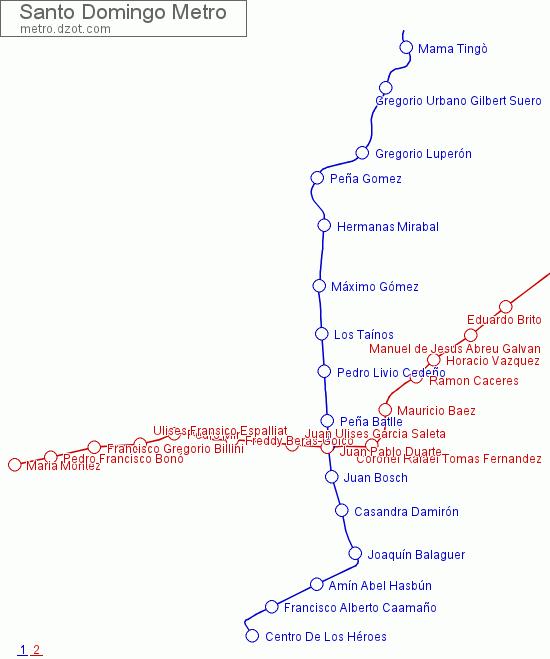 Santo Domingo Metro Map.Map Of Santo Domingo Metro